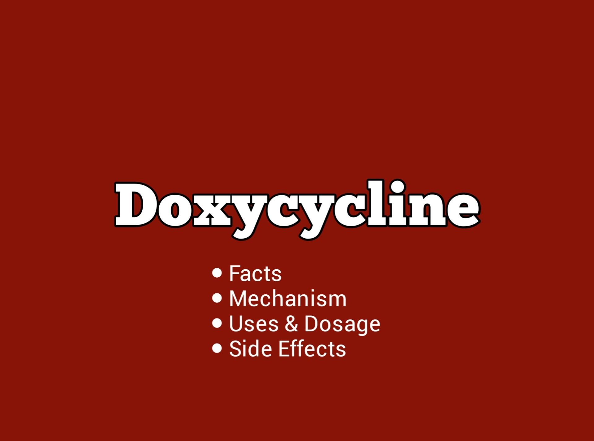 Doxycycline: Important Information You Need To Know - DrugsBank