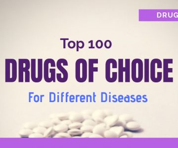 Top 100 Drugs Of Choice For Different Diseases