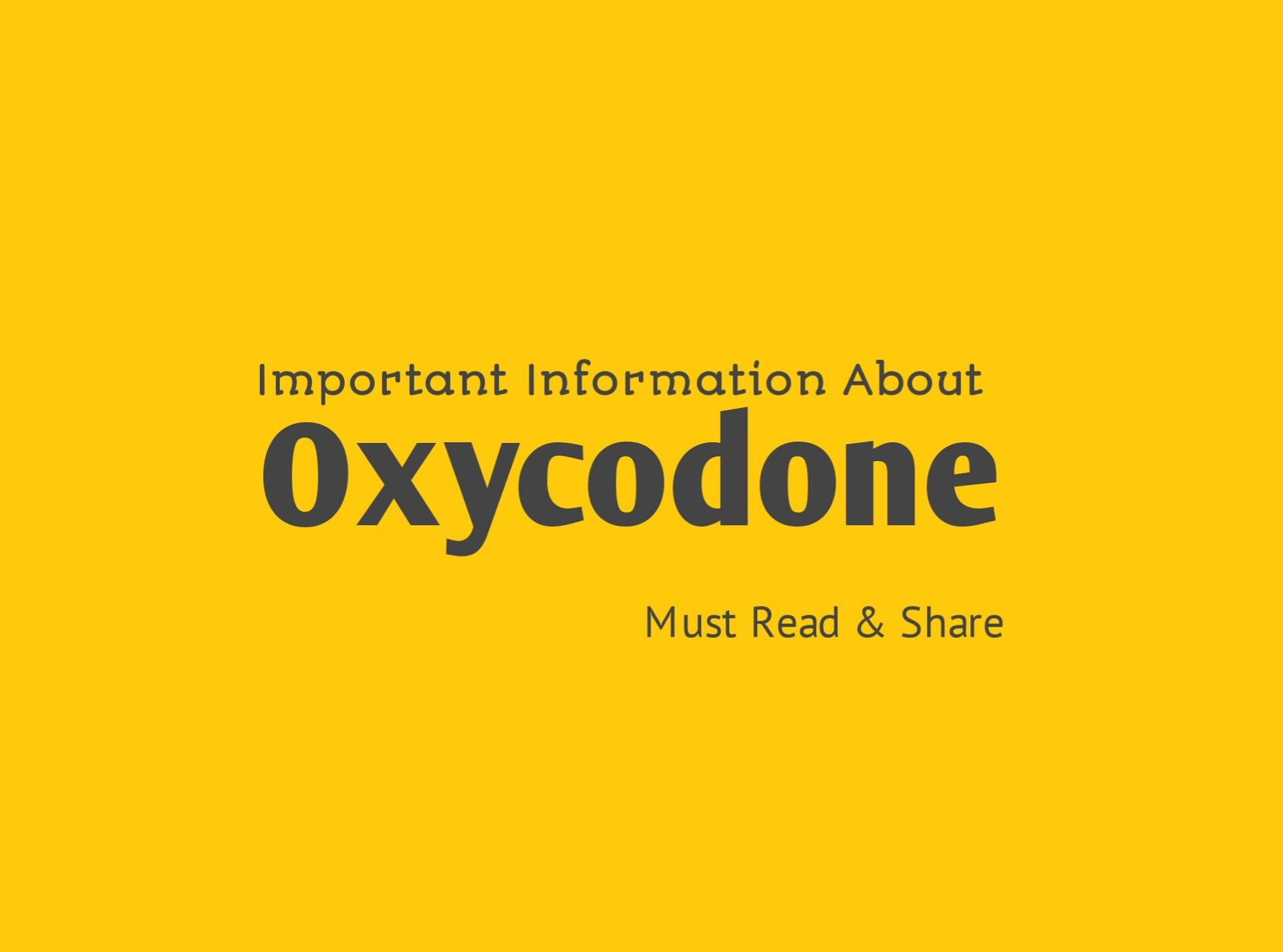 Oxycodone: Uses, Side Effects, Dosage - DrugsBank