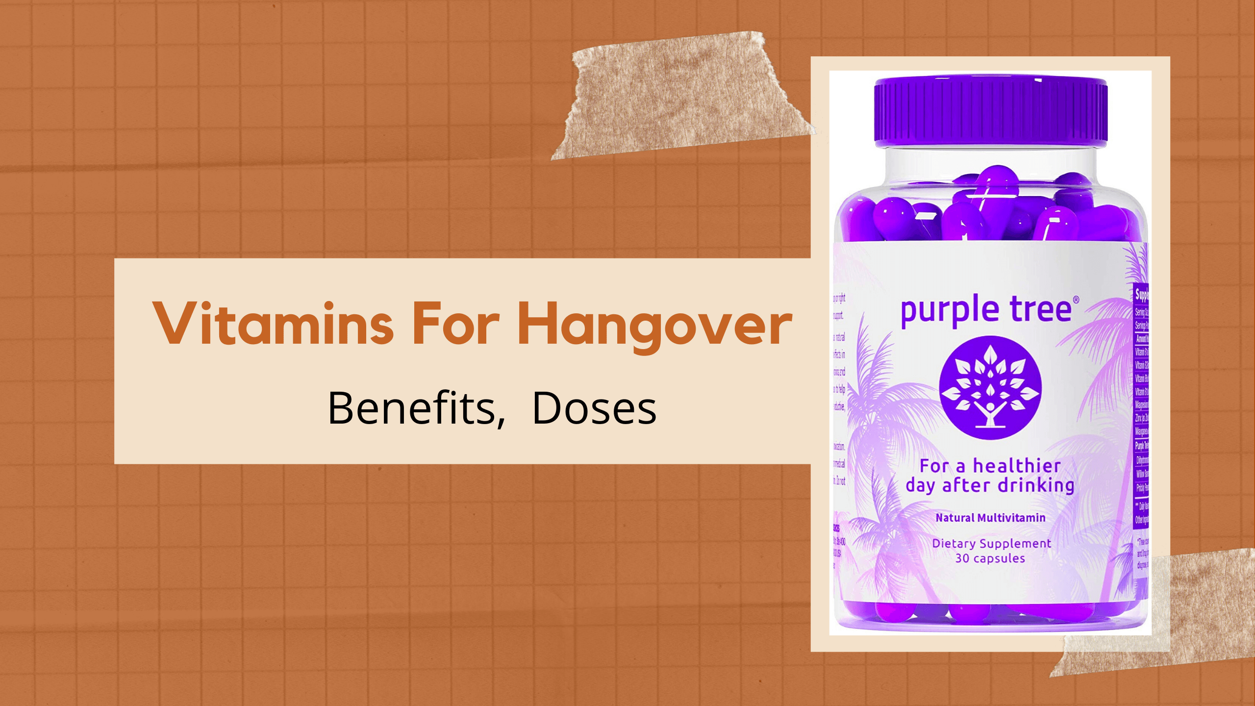 vitamins for hangover